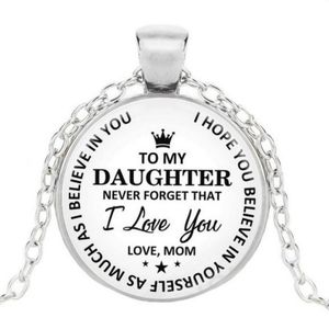 To my daughter chain and pendant love mom